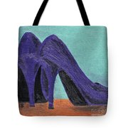 Purple Shoes Tote Bag