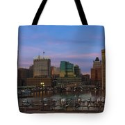 Purple Sky Above Downtown Baltimore Tote Bag
