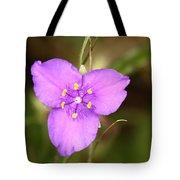 Purple Spiderwort Wildflower Tote Bag