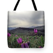 Purple Spring In The Big Horns Tote Bag