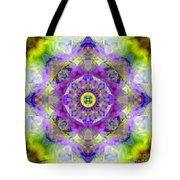 Purple Star Yantra Mandala Tote Bag