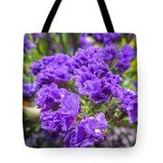 Purple Statice Flower Arrangement Tote Bag