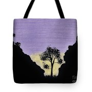 Purple Sunset Drawing Tote Bag