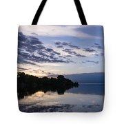 Purple Sunrise Clouds Tote Bag