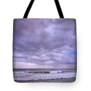 Purple Sunset At The Beach Tote Bag