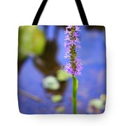 Purple Swamp Flower Tote Bag