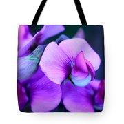 Purple Sweet Peas Tote Bag