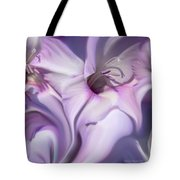 Purple Swirl Abstract Gladiolas  Tote Bag by Jennie Marie Schell