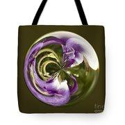 Purple Swirl Orb Tote Bag