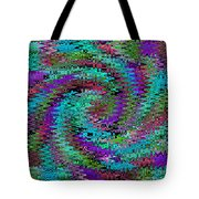 Purple Swirl Ripples Tote Bag