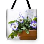 Purple Swirl Violas Tote Bag