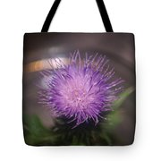 Purple Thistle Tote Bag