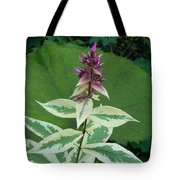 Purple Tipped Flower Tote Bag