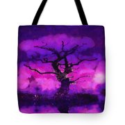 Purple Tree Of Life Tote Bag