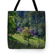 Purple Trees Tote Bag
