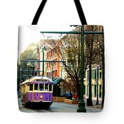 Purple Trolley Tote Bag