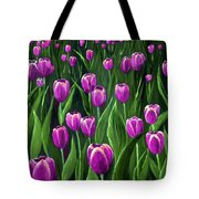 Purple Tulip Field Tote Bag