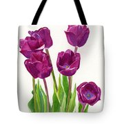 Purple Tulips Square Design Tote Bag