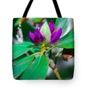 Purple Turtle Head Flower Tote Bag