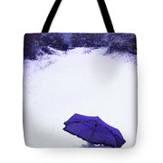 Purple Umbrella Tote Bag by Amanda Elwell
