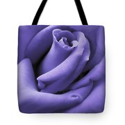 Purple Velvet Rose Flower Tote Bag by Jennie Marie Schell