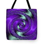 Purple Vortex Tote Bag