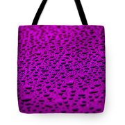 Purple Water Drops On Water-repellent Surface Tote Bag