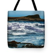 Purple Wave Tote Bag