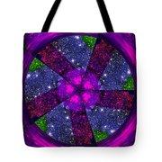 Purple Wheel Vortex Tote Bag