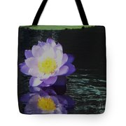 Purple White Yellow Lily Tote Bag