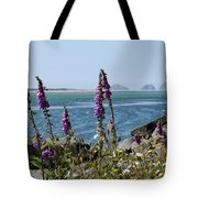 Purple Wildflowers At Netarts Bay Tote Bag