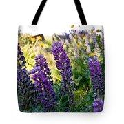 Purple Wildlfowers Tote Bag