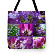 Purple Window Tote Bag