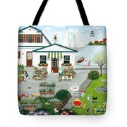 Purr-fect Blooms  Tote Bag