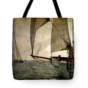 Pursuit In Deep Sea Tote Bag