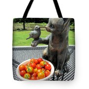 Pussycat And Tomatoes Tote Bag