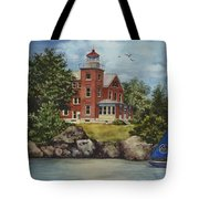 Put-in-bay Lighthouse Tote Bag