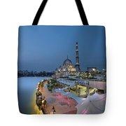 Putra Mosque At Blue Hour Tote Bag