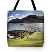 Putting Green In Paradise Tote Bag