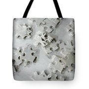 Putting Puzzle Pieces Together Tote Bag