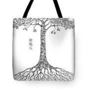 Puzzle Tree Tote Bag