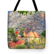 Pyramid Houses In Fall Tote Bag