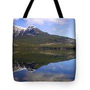 Pyramid Lake Mountain Reflections - Jasper, Alberta Tote Bag