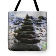 Pyramid Of Rocks Tote Bag