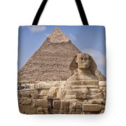 Pyramids And Sphinx In Egypt Tote Bag