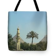 Pyramids And The Minaret Tote Bag