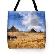Pyramids Of Giza In Egypt Tote Bag