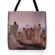 Pythagoreans' Hymn To The Rising Sun Tote Bag