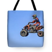 Quad Flying Through The Air Tote Bag