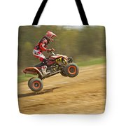 Quad Racer Jumping Tote Bag